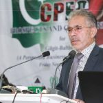 Chief guest Education Minister, Ibrahim Sanai inaugurating the conference