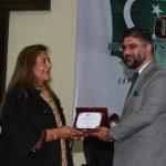 Dr. Shahid Rashid, Executive Director CoE-CPEC presenting souvenir to Ms. Rani Atika, MLA GB